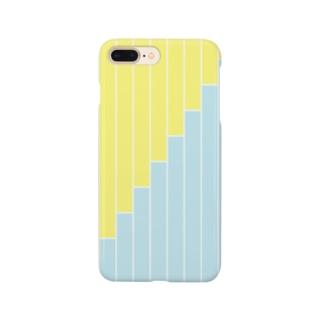 アイフォンケースNo.6(黄色×水色) スマートフォンケース