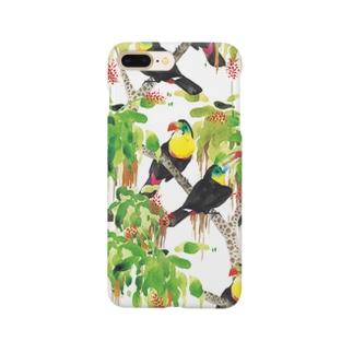 鳥(サンショクキムネオオハシ) Smartphone cases