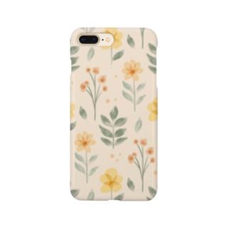 水彩フラワー Smartphone cases