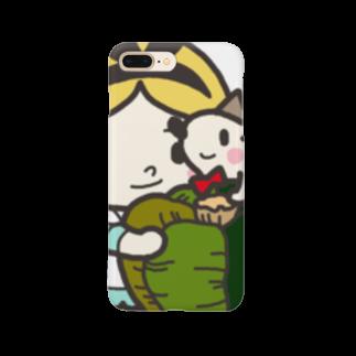 natsuno_bananaのハリネズミと女の子スマートフォンケース