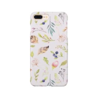 水彩花だらけ Smartphone cases