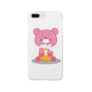 ビールベア(おすわり) Smartphone cases