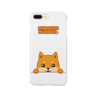 柴犬「ムサシ」こんにちは スマートフォンケース