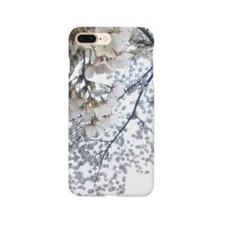 白い桜 Smartphone cases