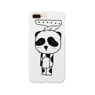 立ち止まりパンダ(ソロ) Smartphone cases