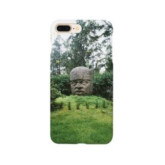 メキシコ:オルメカの巨石人頭像 Mexico: Olmec colossal head Smartphone cases