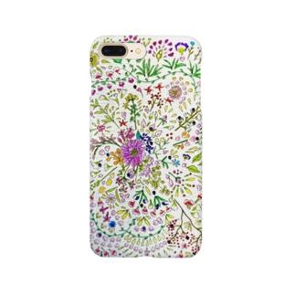 お花の曼陀羅 Smartphone cases