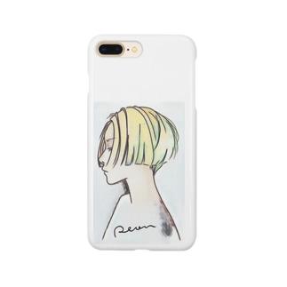 横顔・彩 Smartphone cases