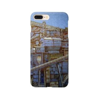青い工場地帯 Smartphone cases