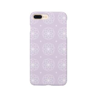 丸文様(パープル・菊) Smartphone cases