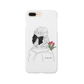 チューリップとリボンの女の子 Smartphone cases