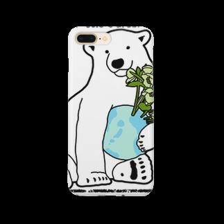 natsuno_bananaのSimple Polar Bearスマートフォンケース