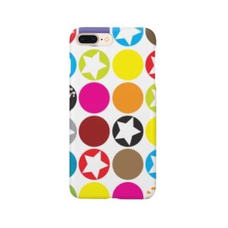 カラフルな○がいっぱい!★がいっぱい!! Smartphone cases