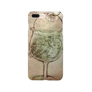 ねこねこわくわくクリームソーダ Smartphone cases