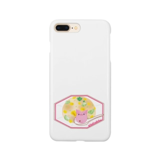 炒飯とぶたくん Smartphone cases
