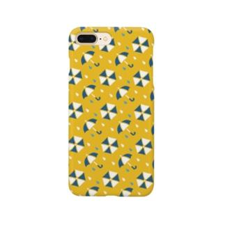 アンブレラ(黄) Smartphone cases