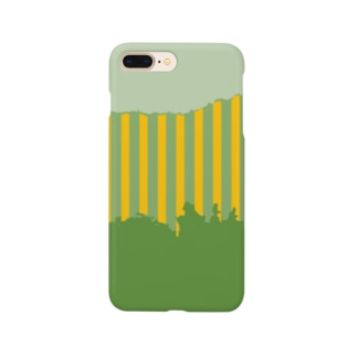 森とストライプ Smartphone cases