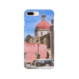 メキシコ:聖母被昇天大聖堂の風景写真 Mexico: view of Catedral de la Asunción de María / : Catedral de Cuernavaca Smartphone cases
