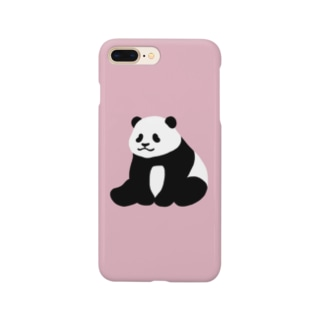 ころころパンダ(おすわり)(ピンク) Smartphone cases
