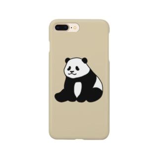ころころパンダ(おすわり)(ベージュ) Smartphone cases