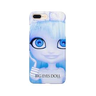 BIG EYES DOLL blue Smartphone cases