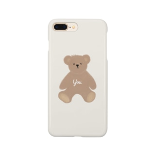 you くま ホワイト Smartphone cases
