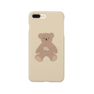 me くまさん ベージュ Smartphone cases