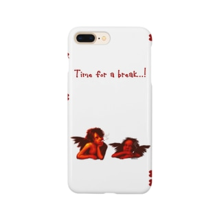 Time for a break...!  iPhone7 Plus ケース(ホワイト) Smartphone cases