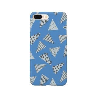 サンカクドット_blue ver. Smartphone cases