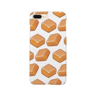 にくらしいミルクキャラメルのパターン Smartphone cases