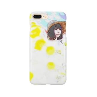 麦わら少女と向日葵 Smartphone cases