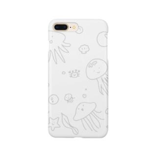 あちゃクラゲ-グレー Smartphone Case