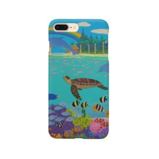 ニューカレドニアのサンゴ礁 Smartphone cases