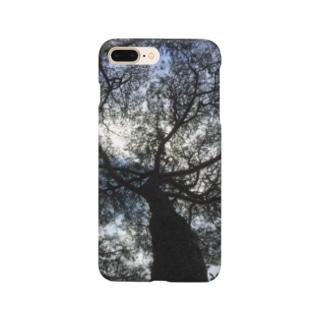星の景色 空と木 スマートフォンケース