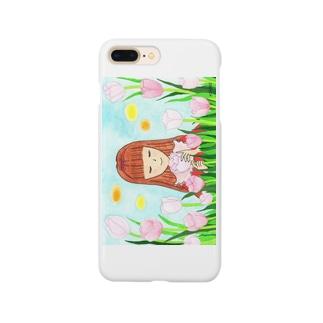 「ピンクダイヤモンドが咲く頃」 Smartphone cases