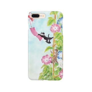 Atelier Heureuxのトロとクロ 朝顔の冒険 Smartphone cases