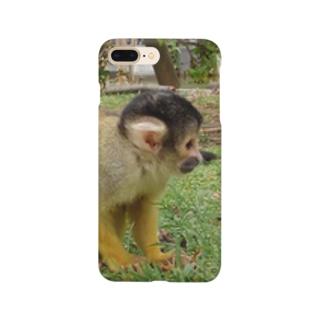 考えるリスザル Smartphone cases