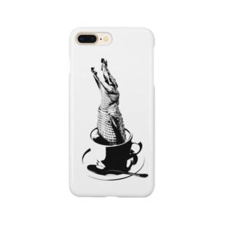 Crocochinno (Black) Smartphone cases