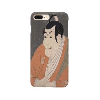ukiyoe-市川鰕蔵の竹村定之進-東洲斎写楽(スマホケース) Smartphone cases