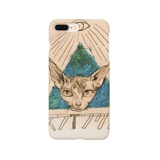 スフィンクスの猫教 Smartphone cases