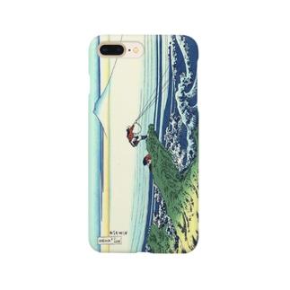 ukiyoe-富嶽三十六景-甲州石班沢-葛飾北斎(スマホケース) Smartphone cases