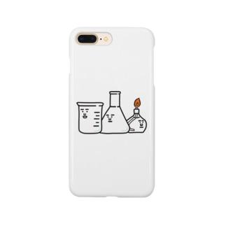 ビーカーくんとそのなかまたちロゴ Smartphone cases
