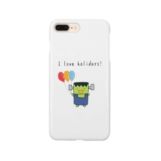 I love holidays! ふらんけん君 Smartphone cases