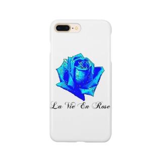 La Vie En Rose-Blue Smartphone cases