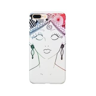 お顔 Smartphone cases