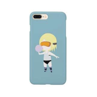 胸がすく【デフォルメ版】 Smartphone cases