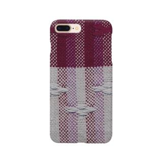 花の浮き織り Smartphone cases