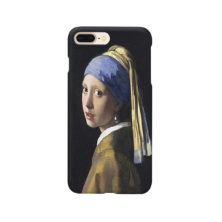 meiga-フェルメール-真珠の耳飾りの少女(スマホケース) Smartphone cases