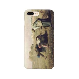 meiga-ミレー-落穂拾い(スマホケース) Smartphone cases