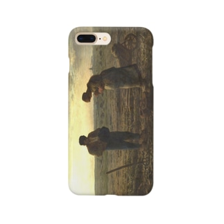 meiga-ミレー-晩鐘(スマホケース) Smartphone cases